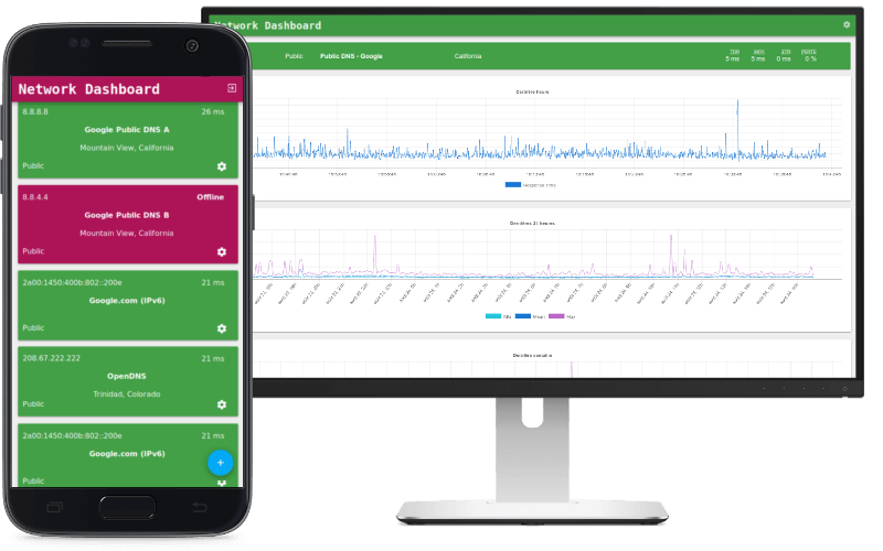Xankom's Network Dashboard on mobile and large screen